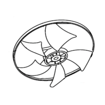 Blade Fan Axial Flow To Rear